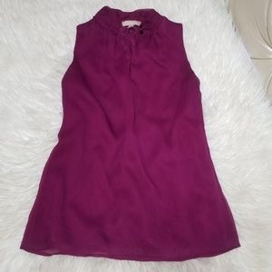 Banana Republic Plum Purple Sleeveless Blouse 6